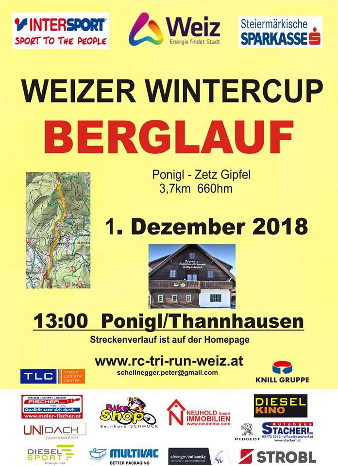 MTB Bergrennen: 20.10.2018 Berglauf: 01.12.2018