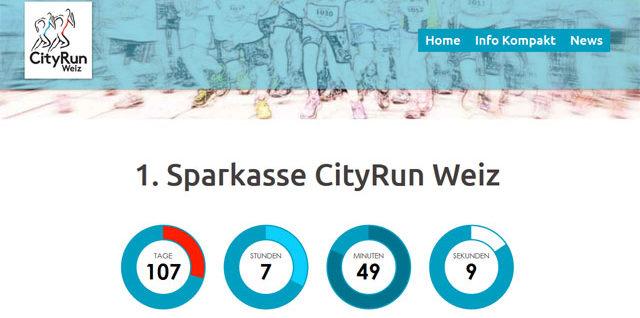 Neue Webseite: Sparkasse CityRun Weiz