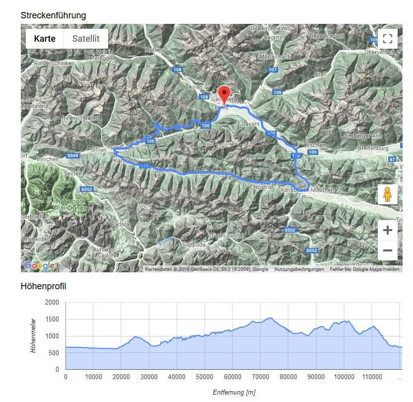 Rennrad und MTB -rtr-weiz-RaceTimePro--Super Giro Dolomiti 2019