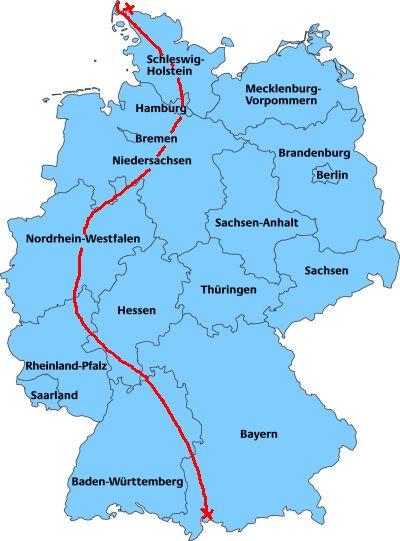 Laufen -rtr-weiz-deutschlandkarte__-1300Km 19 Tage Deutschlandlauf 2019