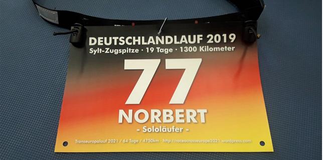1300Km 19 Tage Deutschlandlauf 2019